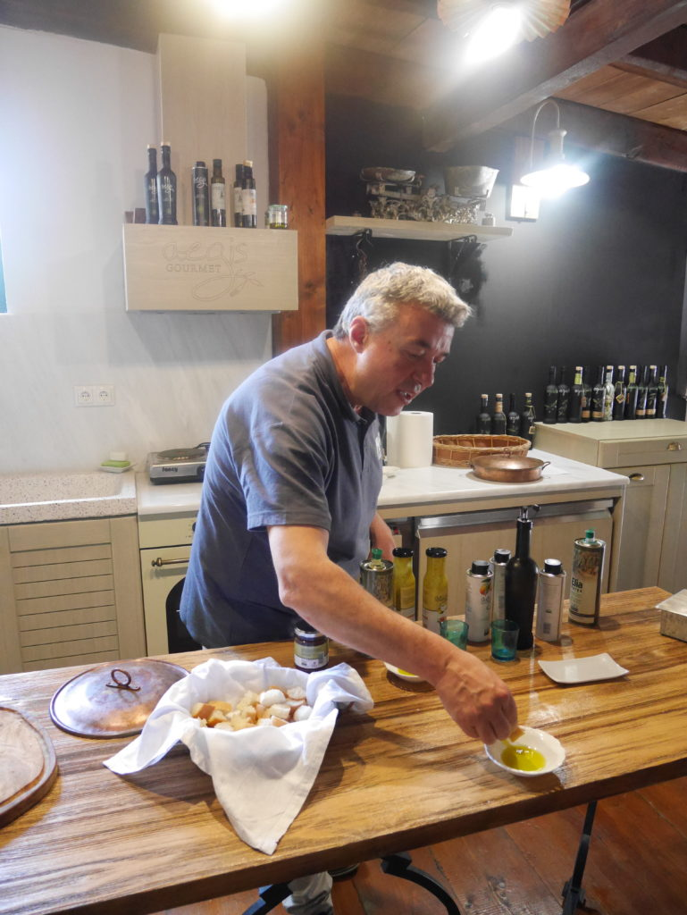 Olive oil tasting at the Paragaea olive oil factory