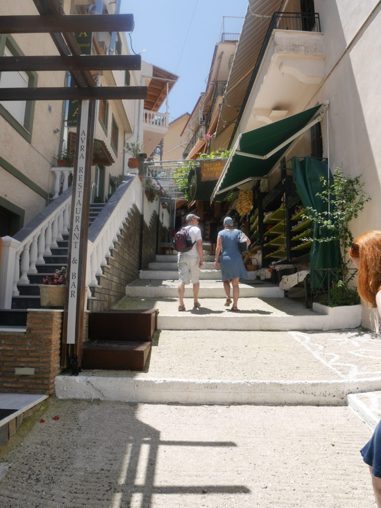 The walk up towards the castle of Parga