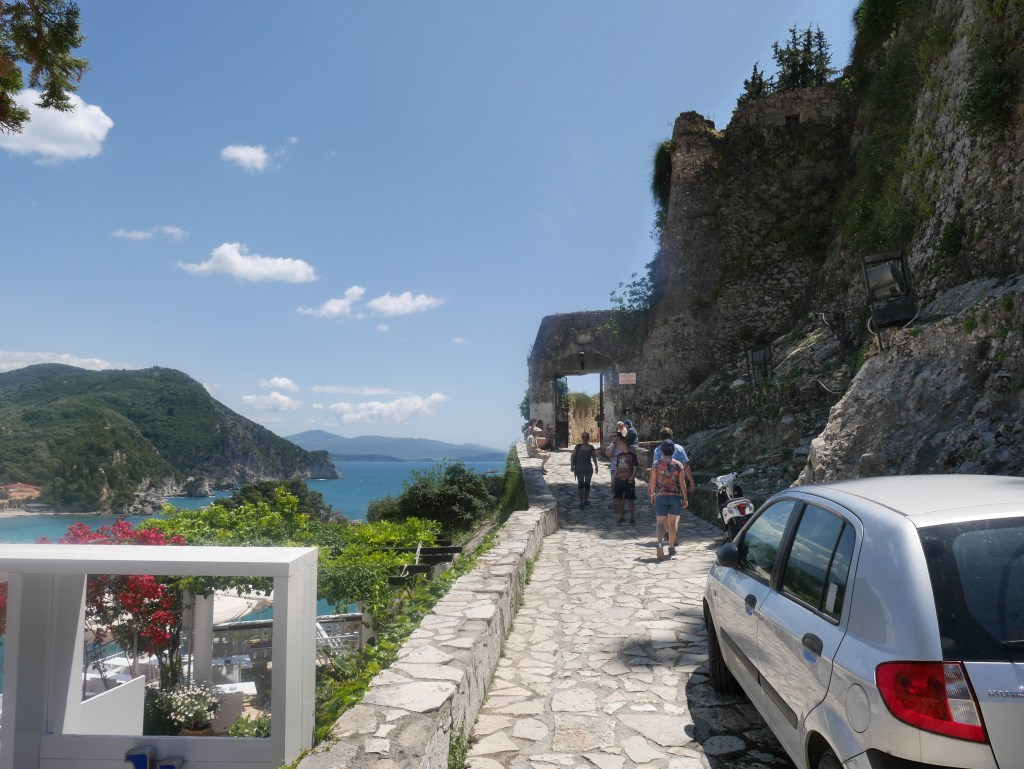 The entrance to the castle of Parga