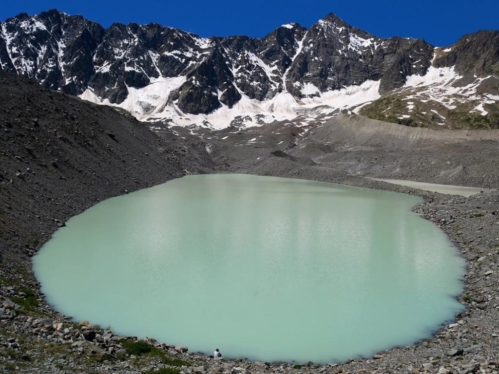 Lac et glacier d'Arsine - massif des Écrins, Alpes