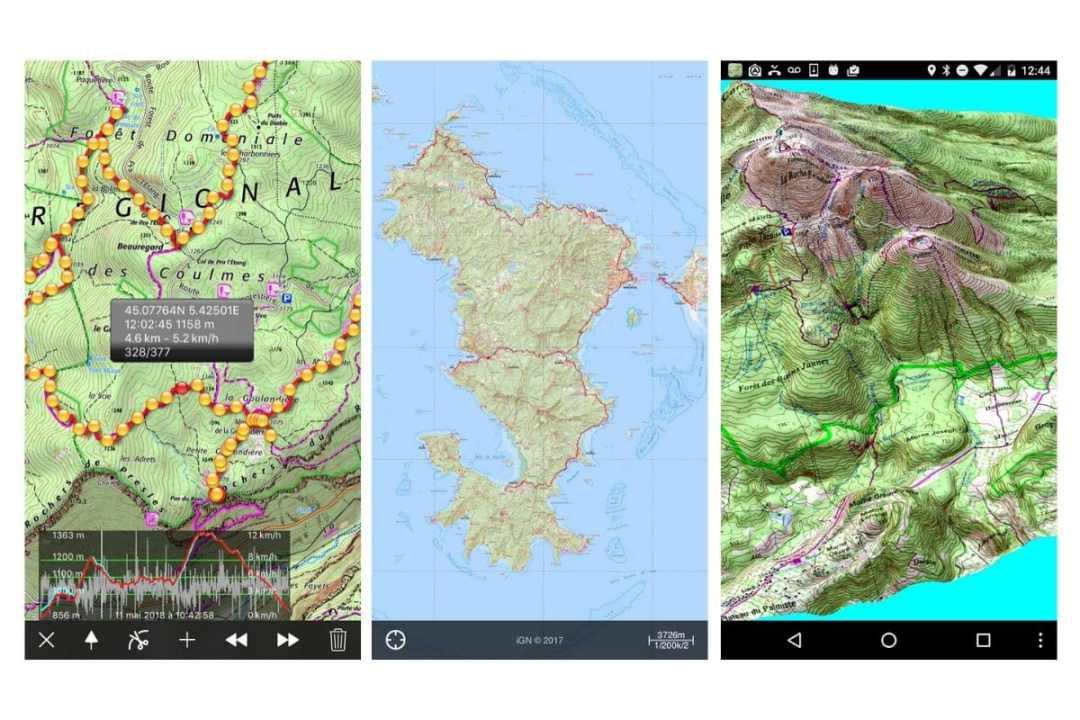 Iphigénie - application gsp de randonnée et trekking