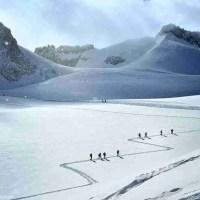 Freeride fotografico in Vallee Blanche  Massiccio del Monte Bianco
