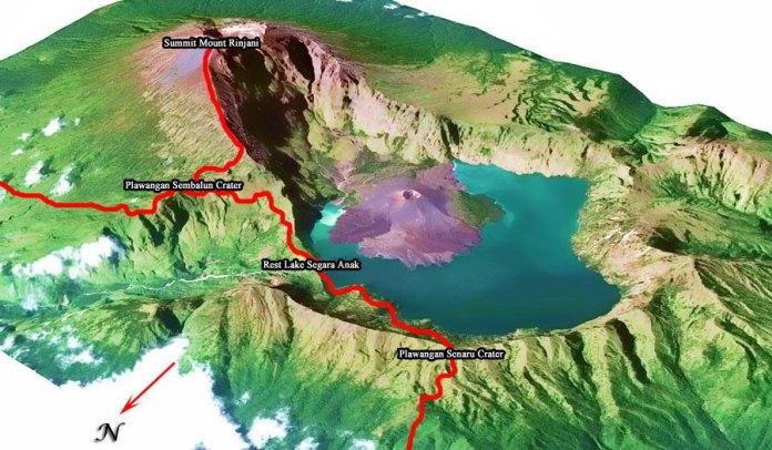 Photo Gallery Guest Trekking Rinjani Of Mountain Rinjani Lombok Island Indonesia