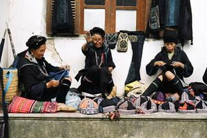 Local old women Sapa