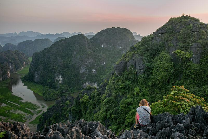 Ninh Binh from above - a magnificent view!