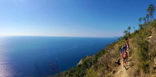 Il sentiero da Levanto a Monterosso, a picco sul mare