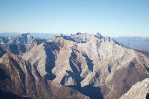 Le cime delle Apuane settentrionali