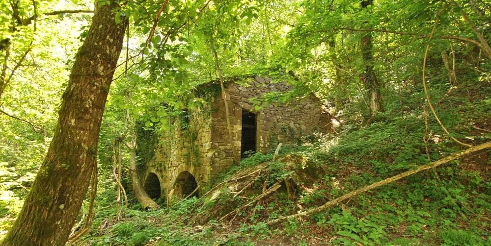Un mulino abbandonato nel castagneto