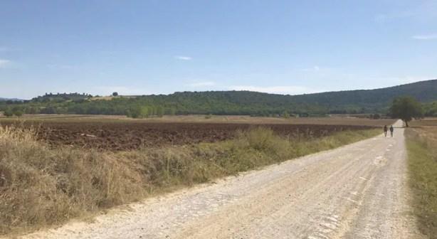 La pianura di Monteriggioni