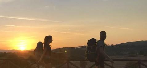 Partenza all'alba da Monteriggioni