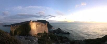 Il castello Doria che domina Portovenere