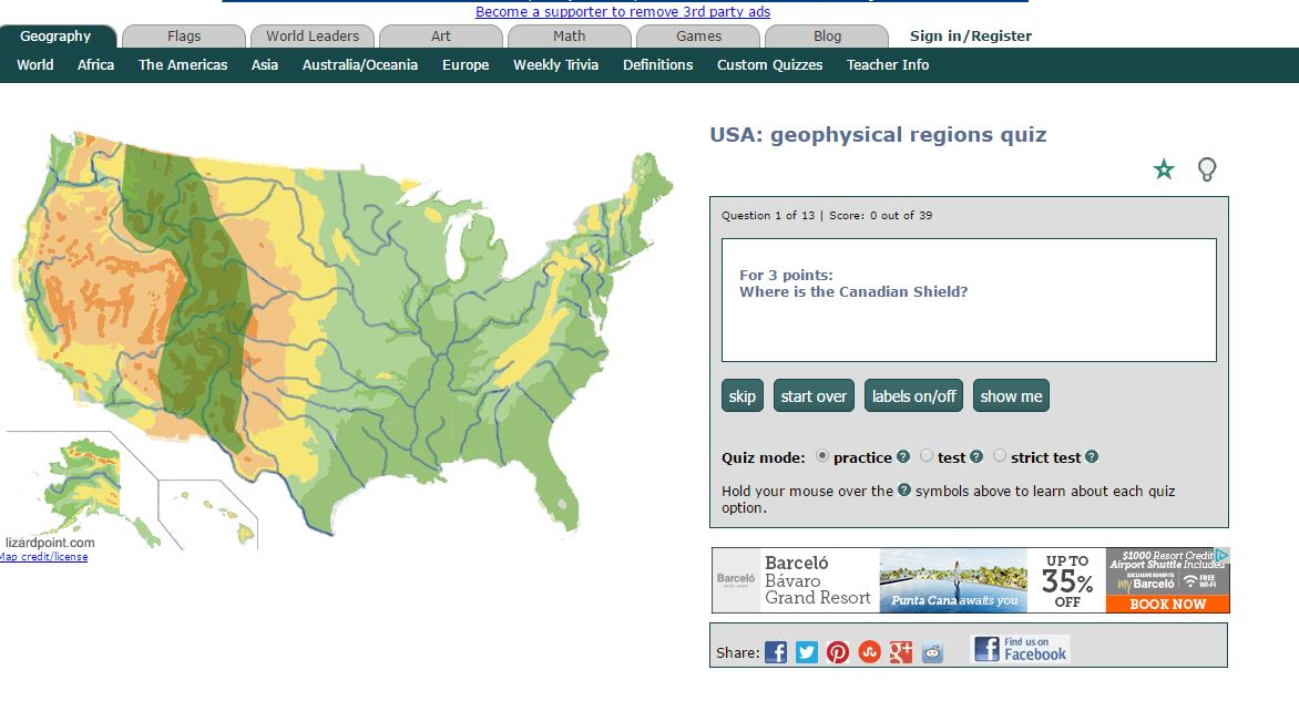 Tuesday quiz us geophysical regions trekking the planet you must identify 13 different geophysical regions of the united states by selecting the correct area on a map best of luck on this weeks quiz gumiabroncs Gallery