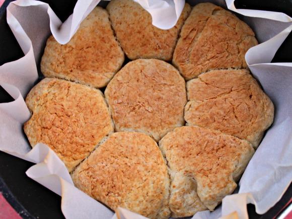 Dutch Oven Campfire Biscuits