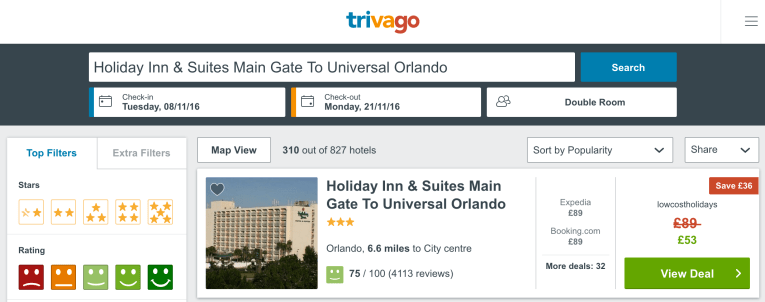 cheap resort in Orlando