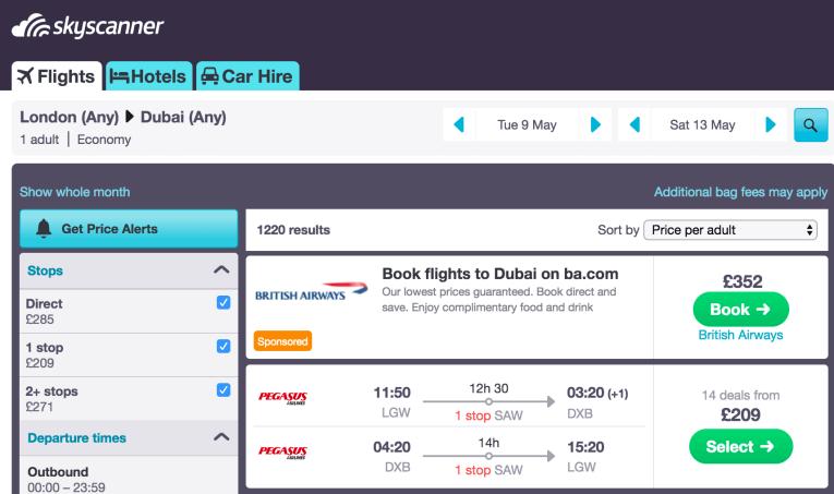 cheap Dubai flights