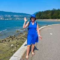 Kathy on the Stanley Park Walking Trail