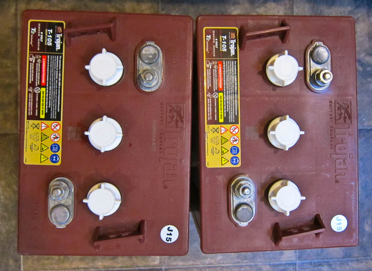rv batteries 101 \u0026 why we use trojan t 105 6v golf cart batteries in Wiring Lighted Doorbell Button