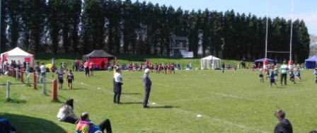 TASC St Austell U9 teams battling it out