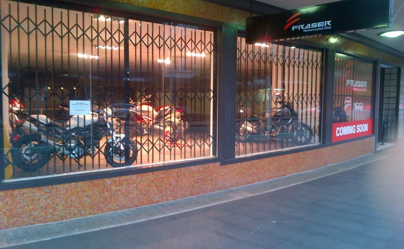 FRASER MOTORCYCLES PROTECTS ITS BIKES WITH CONCERTINA SECURITY DOORS