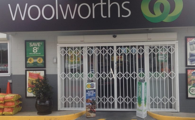 ATDC Installs Security Door at Woolworths in Brisbane
