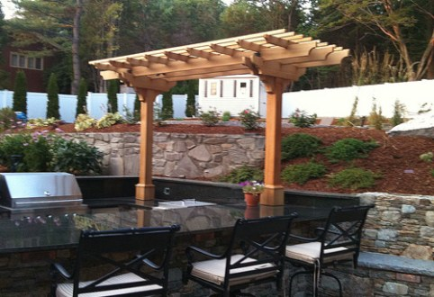 Outdoor Kitchen Pergola by Trellis Structures Outdoor Kitchen Pergola