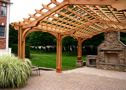 Post And Bracket Pergola No Bp12 By Trellis Structures