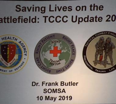 Frank Butler gibt seinen letzten Auftritt auf der SOMSA 2019 und präsentiert die TCCC Updates 2019