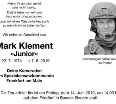 Spendenaktion für getöteten SEK'ler – R.I.P.