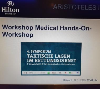 4. Symposium Taktische Lagen im Rettungsdienst in Düsseldorf vom 27.11 bis 28.11.19