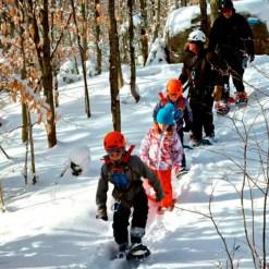 Zipline snowshoe winter - Mont Tremblant