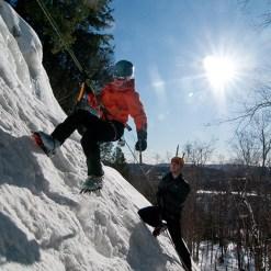 Ice climbing - Mont Tremblant