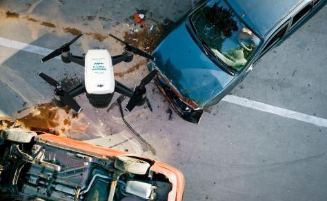 Verkehrsunfall: Schnelle Aufklärung mit Hilfe von Drohnen kann Leben retten