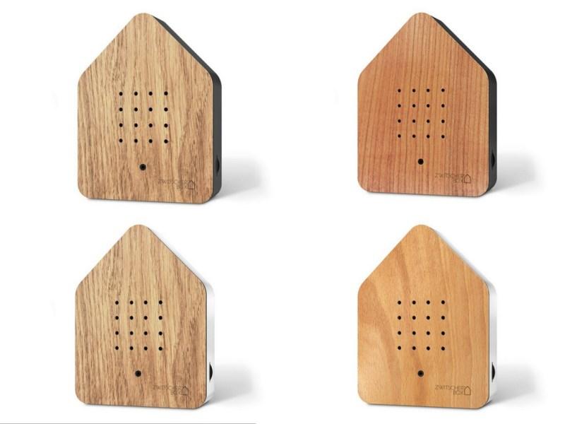 Zwitscherbox vier Holzvarianten