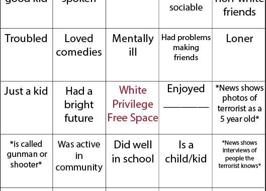 White terrorist bingo