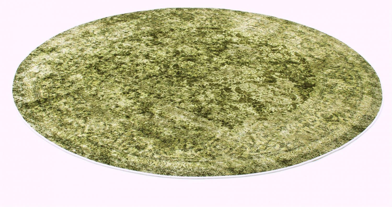 tapis rond denizli vert
