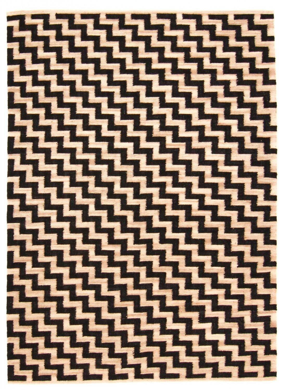 tapis chanvre cabana beige noir