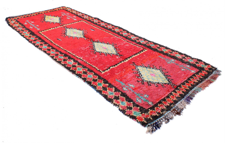 tapis marocain berbere boucherouite 350 x 150 cm