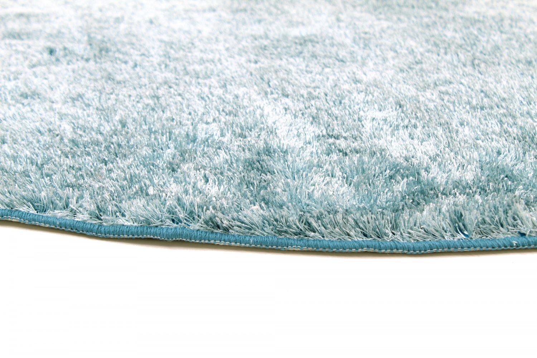 tapis rond cosy bleu vert