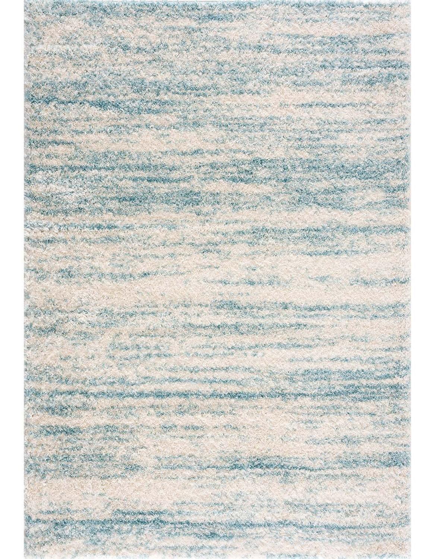 tapis shaggy orellana bleu