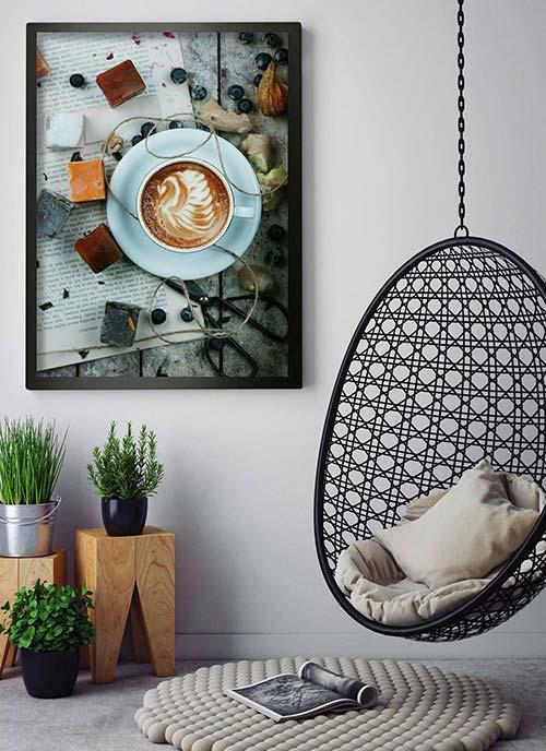Idealny Plakat Do Kuchni Kawa Owoce I Warzywa