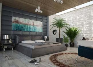 łóżko tapicerowane z wezgłowiem