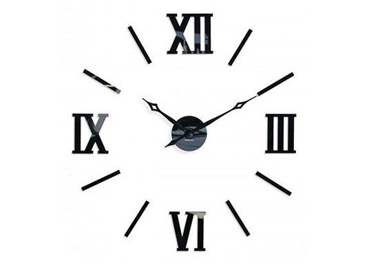 Naklejane zegary ścienne