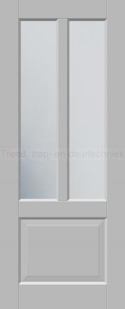 <h5>Trend 2552</h5><p>Paneeldeur uit te voeren met A1, A2, B1, B2, C1 en E1 profilering.  Keuze uit beglazingssoorten, Blank glas, Satijn glas, Blank facet geslepen glas en Satijn facet geslepen glas.</p>