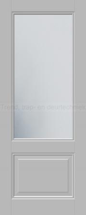 <h5>Trend E520</h5><p>Paneeldeur uit te voeren met E1 profilering.  Keuze uit beglazingssoorten, Blank glas, Satijn glas, Blank facet geslepen glas en Satijn facet geslepen glas.</p>