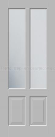 <h5>Trend 3542</h5><p>Paneeldeur uit te voeren met A1, A2, B1, B2 en C1 profilering.  Keuze uit beglazingssoorten, Blank glas, Satijn glas, Blank facet geslepen glas en Satijn facet geslepen glas.</p>