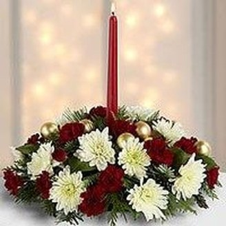 Charming Christmas Candle Decor Ideas 16
