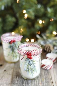 Charming Christmas Candle Decor Ideas 26
