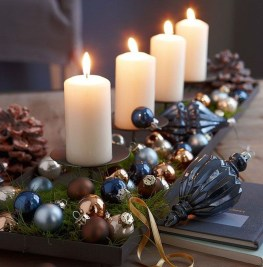 Charming Christmas Candle Decor Ideas 39