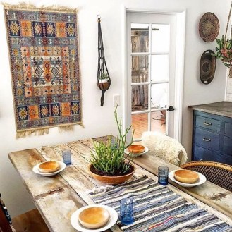 Awesome Bohemian Dining Room Design And Decor Ideas 12