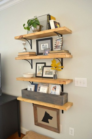 Inspiring Diy Wood Shelves Ideas On A Budget 08
